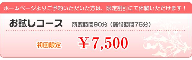 お試し1回15750円