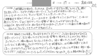 I.Sさん 広島市中区 17歳 女性 学生