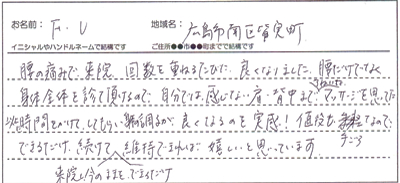 F.Uさん 広島市南区皆実町